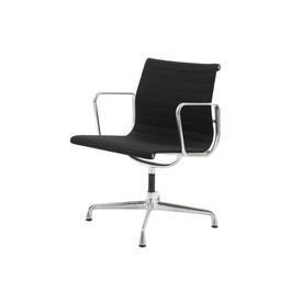 Black Wool & Ali Low Back Ea117 Ribbed Desk Chair on Glides