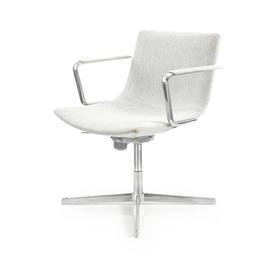 Grey Wool & Ali Low Back Swivel Desk Chair