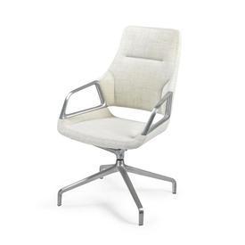 Cream Upholstered & Ali Graph Low Back Desk Chair