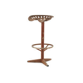 Aged Rusty Metal Tractor Seat Stool