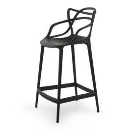 """Black """"Masters"""" Barstool with Back"""