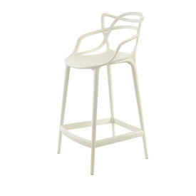 """White """"Masters"""" Barstool with Back"""