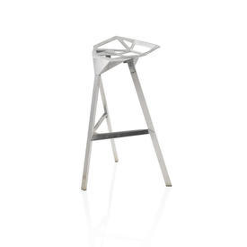 Polished Chrome ''Stool one'' Stool