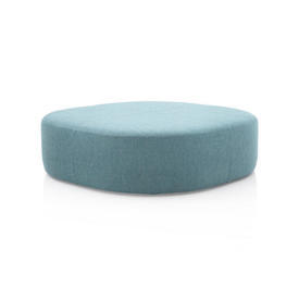 Pale Blue Square Curved Corner ''Domino'' Ottoman