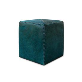 Teal Green Hide Footstool