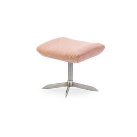 "Pink Fabric ""Rosa"" Footstool on Matt Chrome Base"