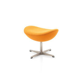 Orange Fabric A.J. ''Egg'' Footstool