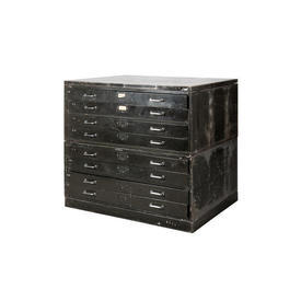 Metal 2 Part 8 Drawer Military Plan Chest