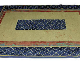 Gallery 7' X 5' Lt Blue/Yellow  Red Line Pattern Rug