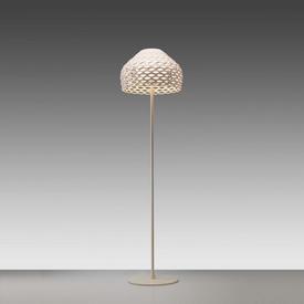 """White Perspex Perforated """"Tatou"""" Standard Lamp"""