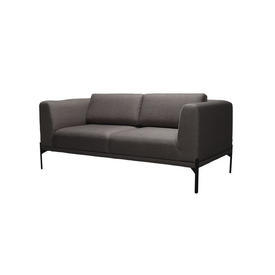 Bronze Fabric ''Caisa'' 2 Seater Sofa on Black Legs with 2 Back Cushions