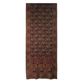 Wall Hanging 10' x 4' Rust Faded Geo Kelim