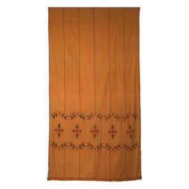 "Wall Hanging 8' x 4'2"" Ginger Diamond Tiles & Leaf Stripe Emb Lawn"