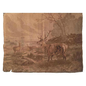"Wall Hanging 2'4"" x 3' Sand Stags by Lake Berlin Tapestry"