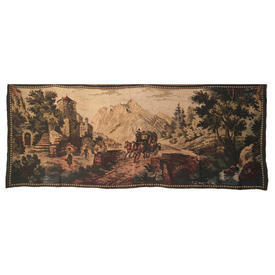 "Wall Hanging 2'2"" x 5'4"" Bottle Coach & Horses Jacquard Tapestry"