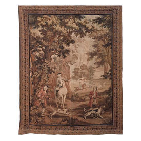 """Wall Hanging 6'8"""" x 5' Huntsman & Hounds Tapestry"""