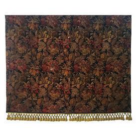 Wall Hanging 6' x 7' Black / Burgundy Shredded Large Floral Heavy Tapestry / Braid