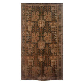 """Wall Hanging 7'3"""" x 3'9"""" Khaki Faded Geo Floral Tapestry"""