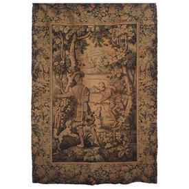 "Wall Hanging 5'10"" x 3'6"" Khaki Hunters in Forest Tapestry"