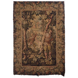 "Wall Hanging 5'10"" x 3'7"" Khaki Hunters in Forest Tapestry"
