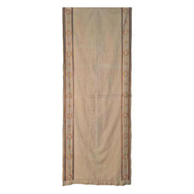 "Wall Hanging 8'1"" x 3'3"" Sand Canvas / Circ Emb Border"