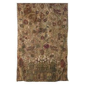 Wall Hanging 8' x 5' Gold / Maroon Shredded Metal Bullion & Silk Ornate Moorish Emb on Silk