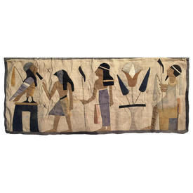 """Wall Hanging 1'5"""" x 3'6"""" Sand / Lilac Egyptians Applique"""