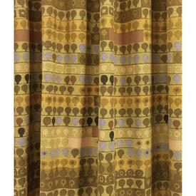 Pair Drapes 7' x 8' Mustard Heal's Cherry Orchard Abstract Stripe