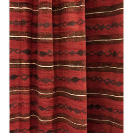 Pair Drapes 7' x 4' Red Heal's Lamina Horiz. Stripe Print