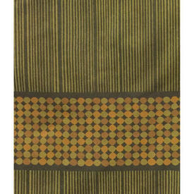 Pair Drapes 7' x 4' Olive Heal's Abacus Spot Stripe