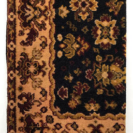 Table Cover 7' x 6' Navy / Burgundy Floral Moquette