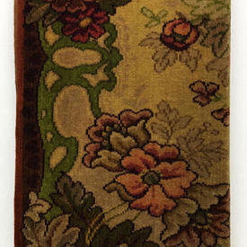 """Table Cover 7' x 5'6"""" Rust / Olive Large Floral Print Moquette"""
