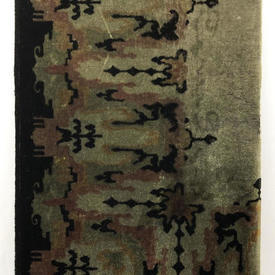"""Table Cover 8'10"""" x 4'8"""" Charcoal Abstract Print Plush"""