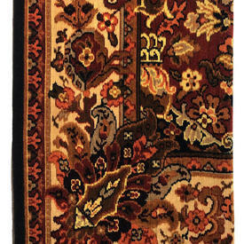 """Table Cover 6' x 5'9"""" Rust Large Leaf Scroll Print Moquette"""
