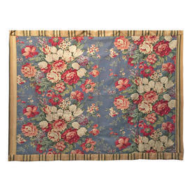 "Wall Hanging 3'2"" x 4'1"" Blue Designers Guild Large Roses Print"