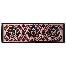 Wall Hanging 2' x 6' Khaki / Plum Chinese Dragon Motif Applique Silk & Velvet