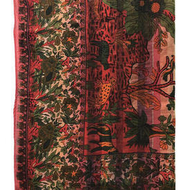 "Bed Cover (D) 8'3"" x 6'9"" Tree of Life Print Indian Cotton"