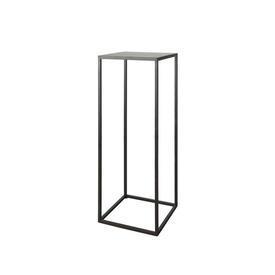Graphite Metal Square Pedestal