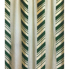 "Pair Nets 6'6"" x 3' Emerald Chevron Silky Lace"