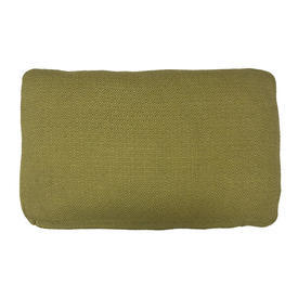 """Oblong Cushion 12"""" x 20"""" x 4"""" Lime Textured Weave"""