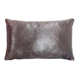 "Cushion 11"" x 18"" Pale Rose Metallic / Silk Panne Reverse"