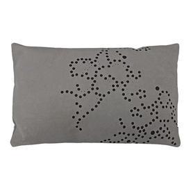 "Oblong Cushion 10"" x 15"" Mushroom Gilles Caffier Random Spots Cut Suede"