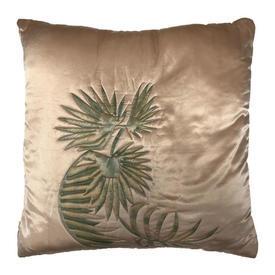 """Cushion 20"""" x 20"""" Sage / Cream Fern Watercolour Silk"""