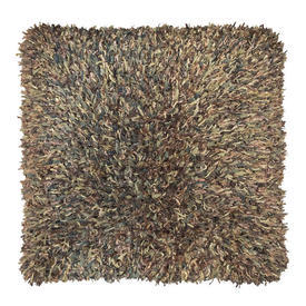 "Floor Cushion 30"" x 30"" Sage Wool / Silk Ribbon Tuft Weave"