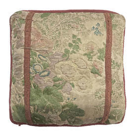 """Cushion 20"""" x 20"""" Sea Floral Chintz Quilted Ribbon"""