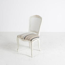 Rochelle French Painted Off White Padded Seat Bedroom  Chair