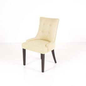 Pale Yellow  Buttoned Fabric Mpf Bedroom Chair
