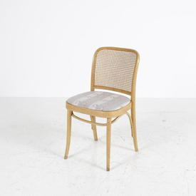 Beech/Rattan Back Stripe Seat Chair
