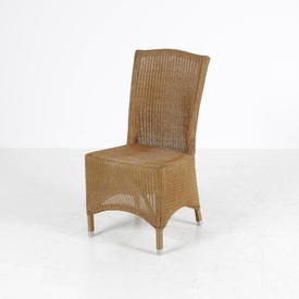 Brown Honeywash High Back Lloyd Loom Chair