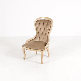 Grants Limed Oak Fawn Fabric Nursing Chair